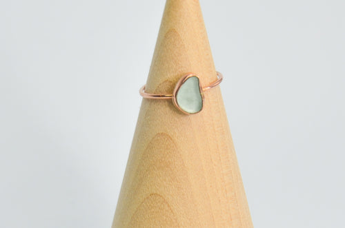 14k Rose Gold Fill Sea Foam Sea Glass size 6.75