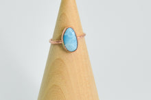 Load image into Gallery viewer, 14k Rose Gold Fill Larimar Size 6.75