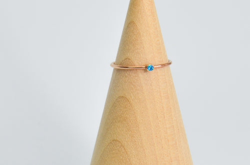 14K Rose Gold Fill 2mm Apatite Size 7