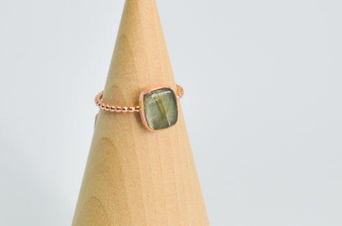 14k Rose Gold Fill Labradorite Size 7
