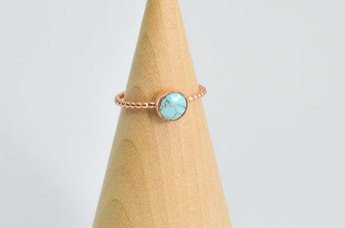 14k Rose Gold Fill Egyptian Turquoise Size 7