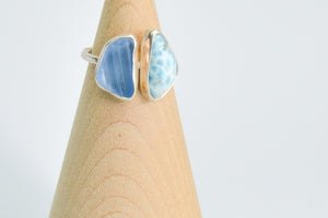 Cornflower and Larimar Ring Size 6.5