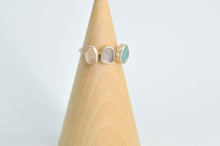 Load image into Gallery viewer, Triple Pastel Sea Glass Ring Size 8