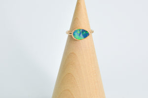 14k Yellow Gold Fill Australian Opal Size 4.75