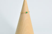 Load image into Gallery viewer, 14k Yellow Gold Fill 3mm green onyx Size 6