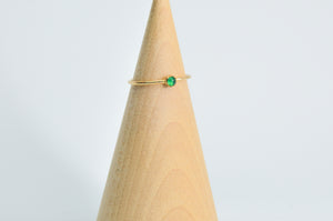 14k Yellow Gold Fill 3mm green onyx Size 6