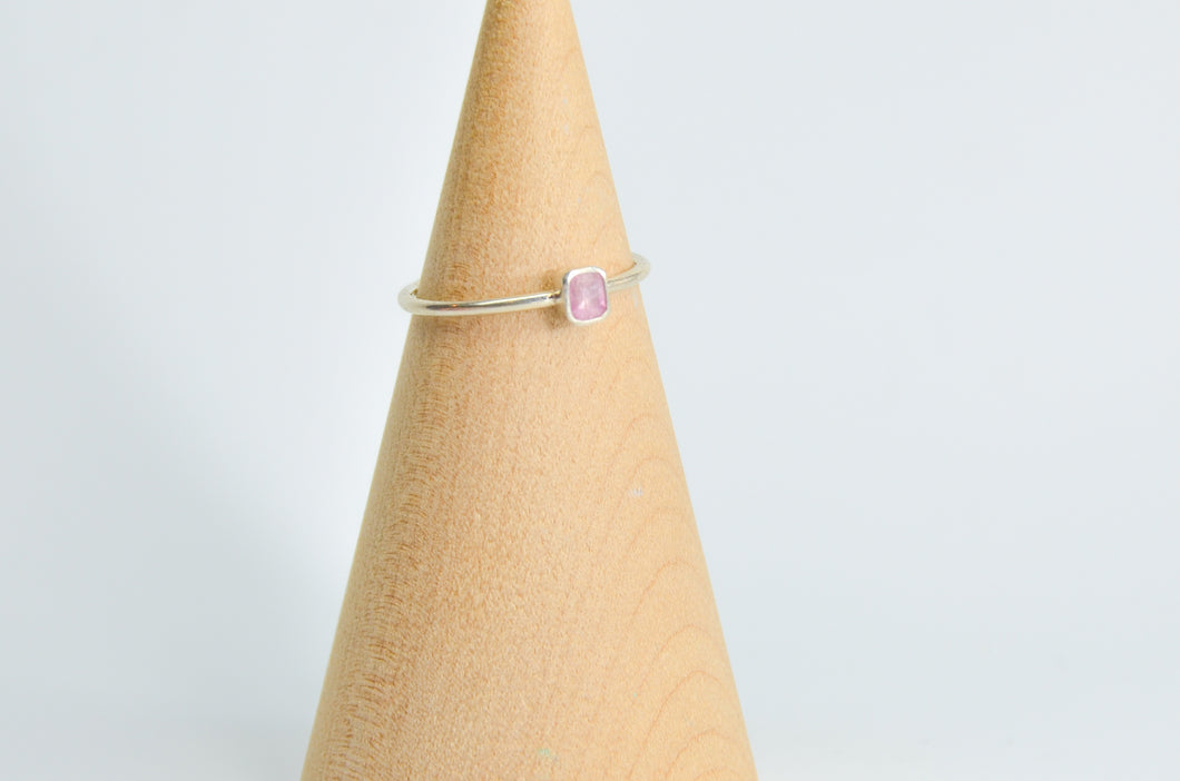 Faceted Pink Sapphire Size 8.25