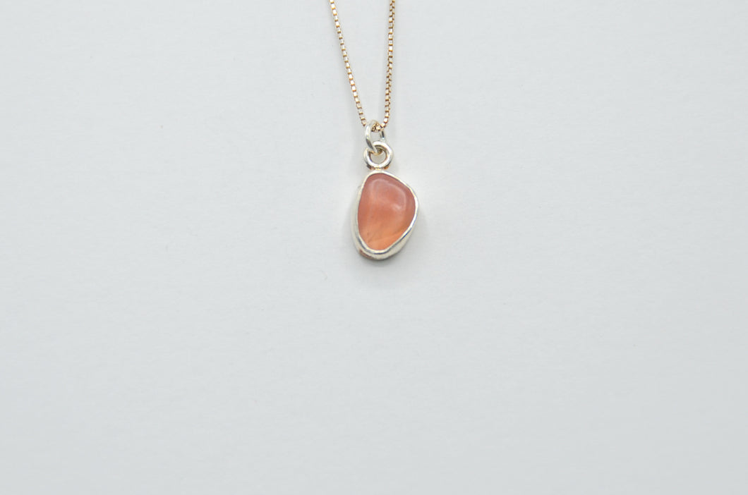 Pink Agate Cambria Moonstone Necklace
