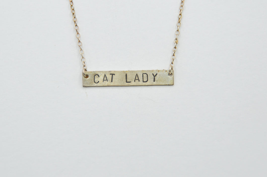 Cat Lady Bar Necklace