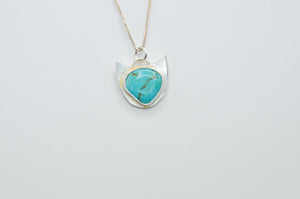 Cat Turquoise Mountain Necklace
