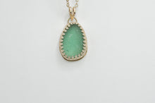 Load image into Gallery viewer, XXL Aqua Sea Glass Necklace