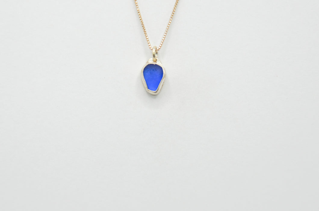 Cobalt Sea Glass Necklace