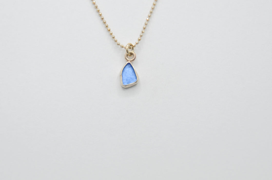 Cornflower Sea Glass Necklace