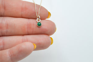 4mm Round Malachite