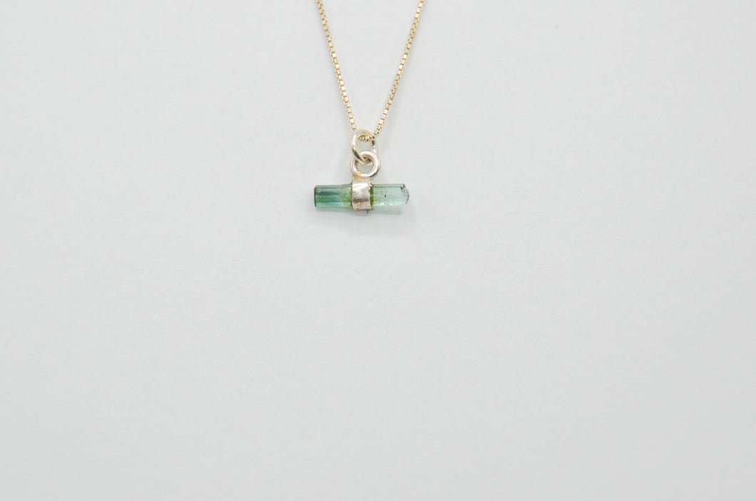 Watermelon Tourmaline Crystal Necklace
