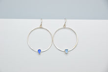 Load image into Gallery viewer, Cornflower and Cobalt Sea Glass Earrings