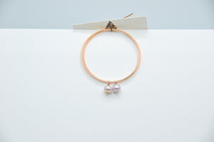 14k Rose Gold Fill Endless Hoops with Lavender Pearls