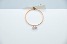 Load image into Gallery viewer, 14k Rose Gold Fill Endless Hoops with Lavender Pearls