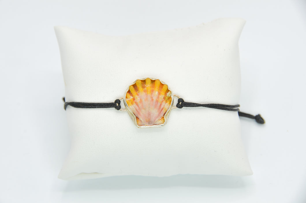 Hawaiian Sunrise Shell Adjustable Bracelet