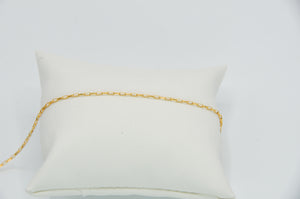 14k Yellow Gold Fill Mini Paperclip Chain Bracelet