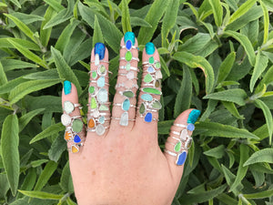Sea Glass Stacker Ring
