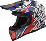 LS2 Helmets 437-2304 Fast V2 Strong Red White & Blue Graphic - Elite Motosports