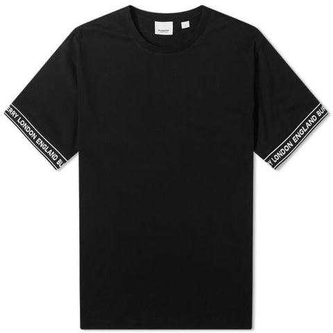 Burberry Teslow Tape Sleeve Tee (Black)