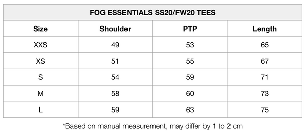 Fear of God Essentials 3D Applique S/S Tee (Weathered Black) (FOG EXCLUSIVE)