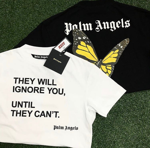 Palm Angels SS20 Butterfly Back Logo Tee (Black)
