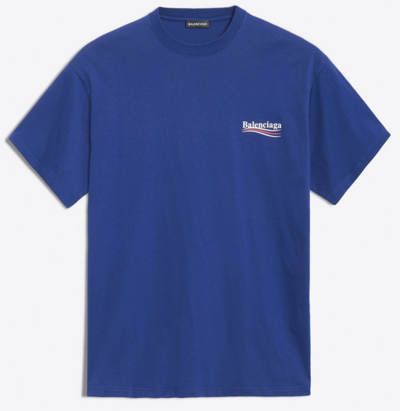 Balenciaga Political Campaign Tee (Blue/Purple)