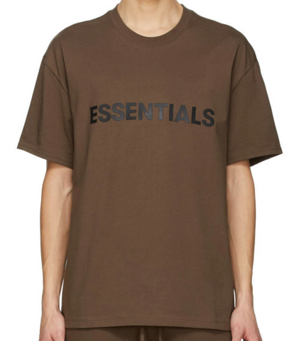 Fear of God Essentials 3D Applique S/S Tee (Rain Drum/Brown) (SSENSE EXCLUSIVE)
