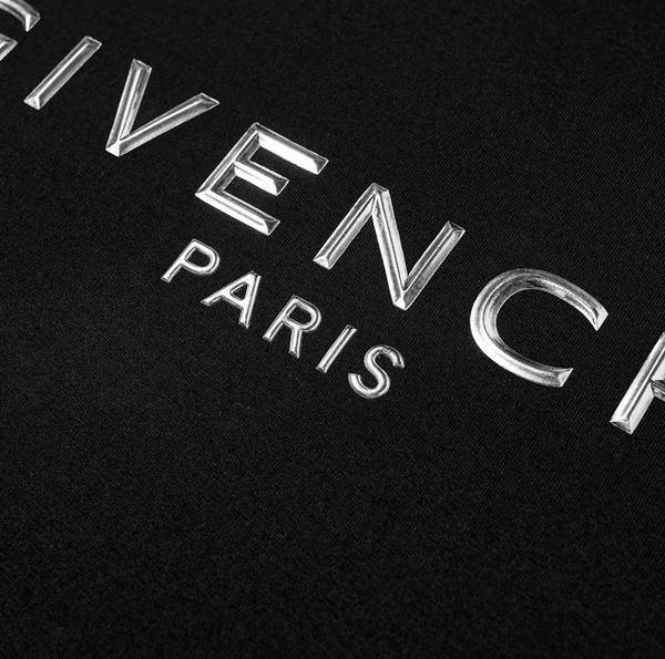 Givenchy Metallic Logo Tee (Black)