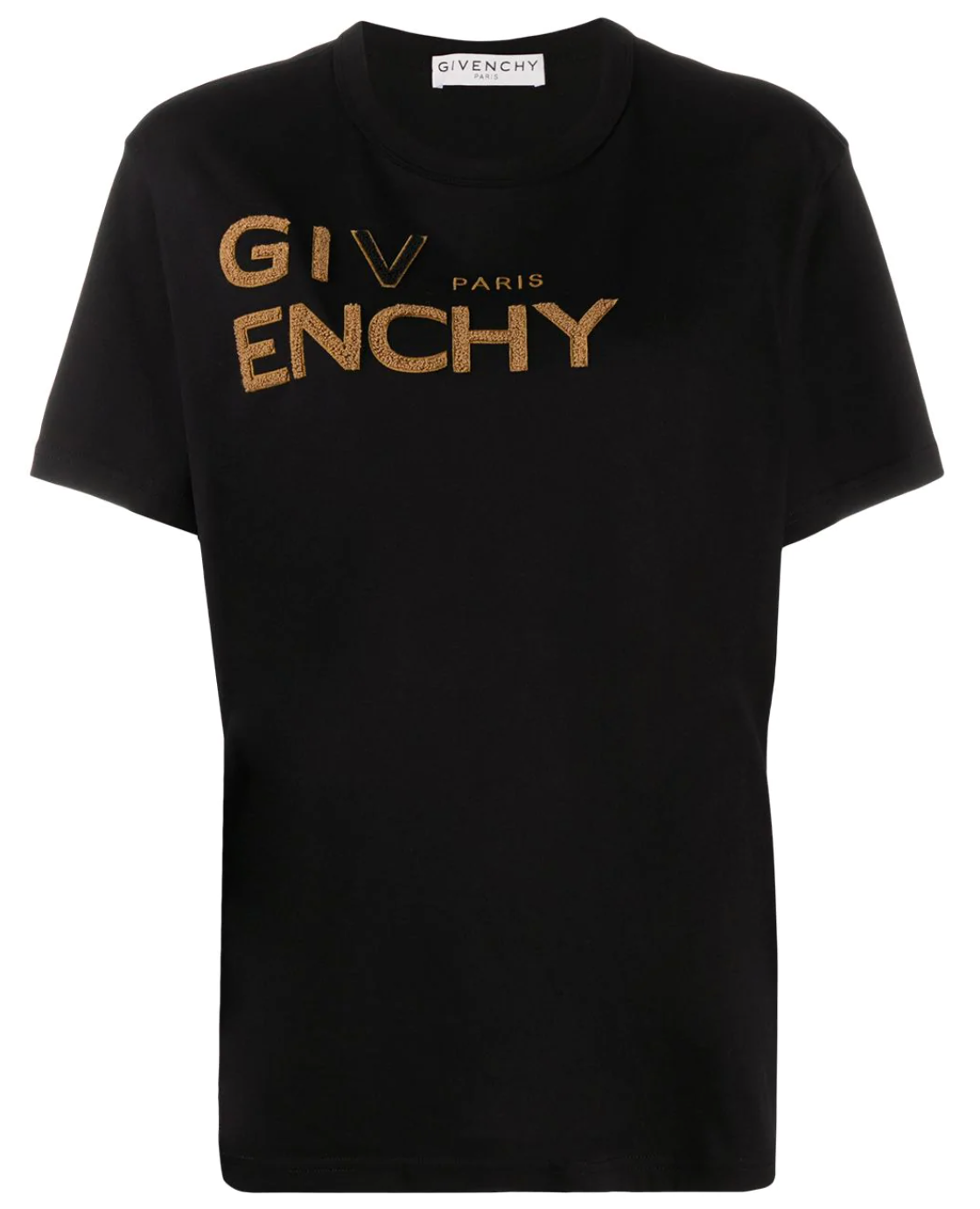 Givenchy Brown Embroidered Logo Tee (Black)