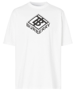 Burberry TB Box Logo Tee (White)