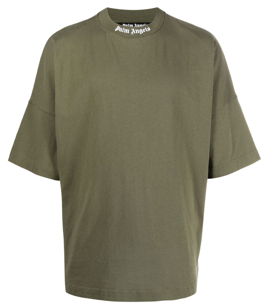 Palm Angels Logo Over Tee (Military Green)