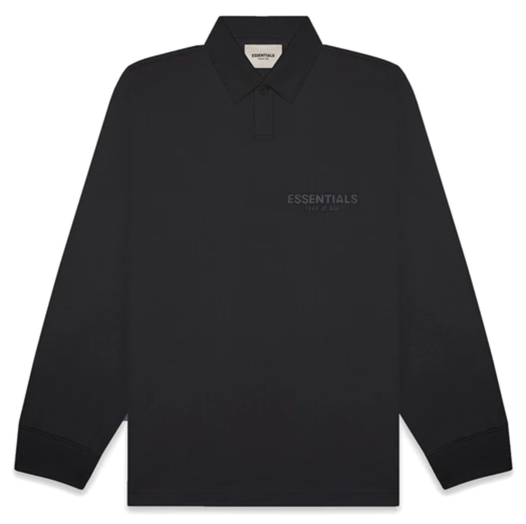 Fear of God Essentials L/S Polo Tee (Black)