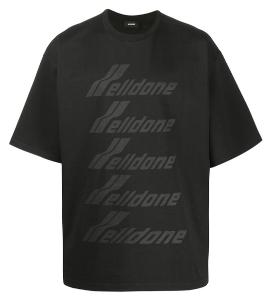 WE11DONE Wave Tee (Black)