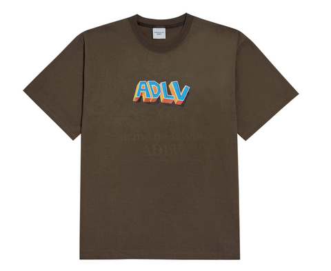 ADLV Block Logo Tee (Brown)