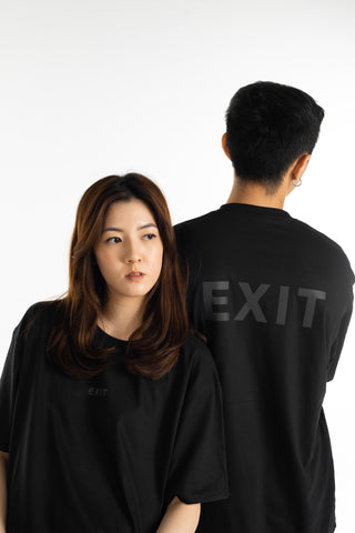 EXIT Reflective Tee (Black on Black)