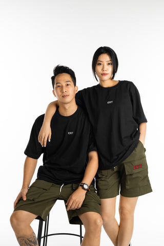 EXIT Embroidered Logo Tee (Black)