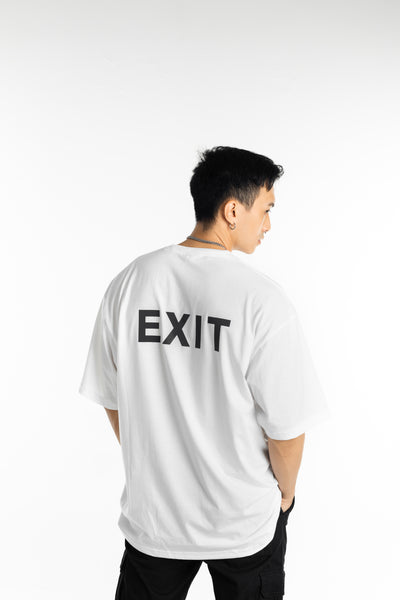 EXIT Reflective Tee (Black on White)