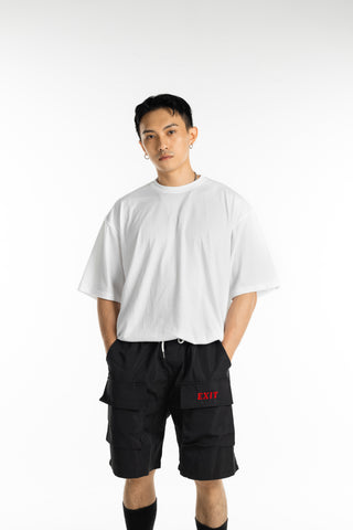 EXIT Basic Oversized White T-Shirt (Pack of 2)
