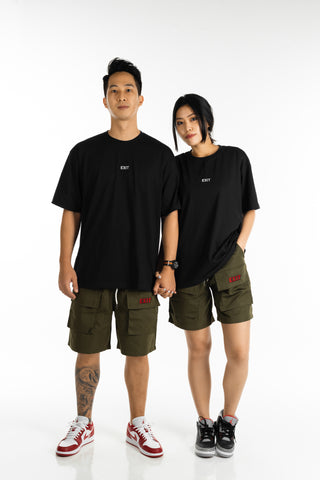 EXIT Embroidered Utility Shorts (Olive)