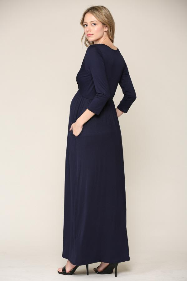 LS Maxi Pocket Dress