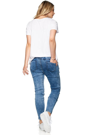 Walk This Way Denim Jogger - Nursing & Maternity Clothes
