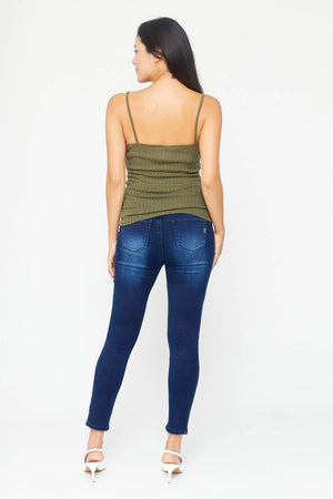Butter Denim Over Bump Ankle Jean - Nursing & Maternity Clothes