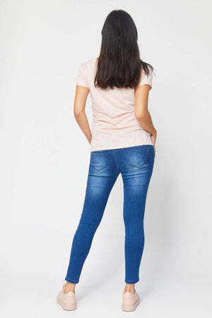 Butter Denim Side Panel Ankle Jean - Nursing & Maternity Clothes