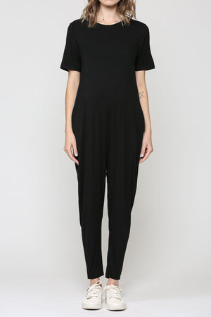 Keyhole Jumpsuit w/ Side Pockets - Nursing & Maternity Clothes