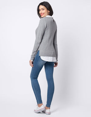 Layered Sweater & Mock Shirt - Nursing & Maternity Clothes