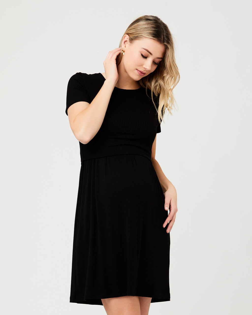 Rib Crop Top Dress